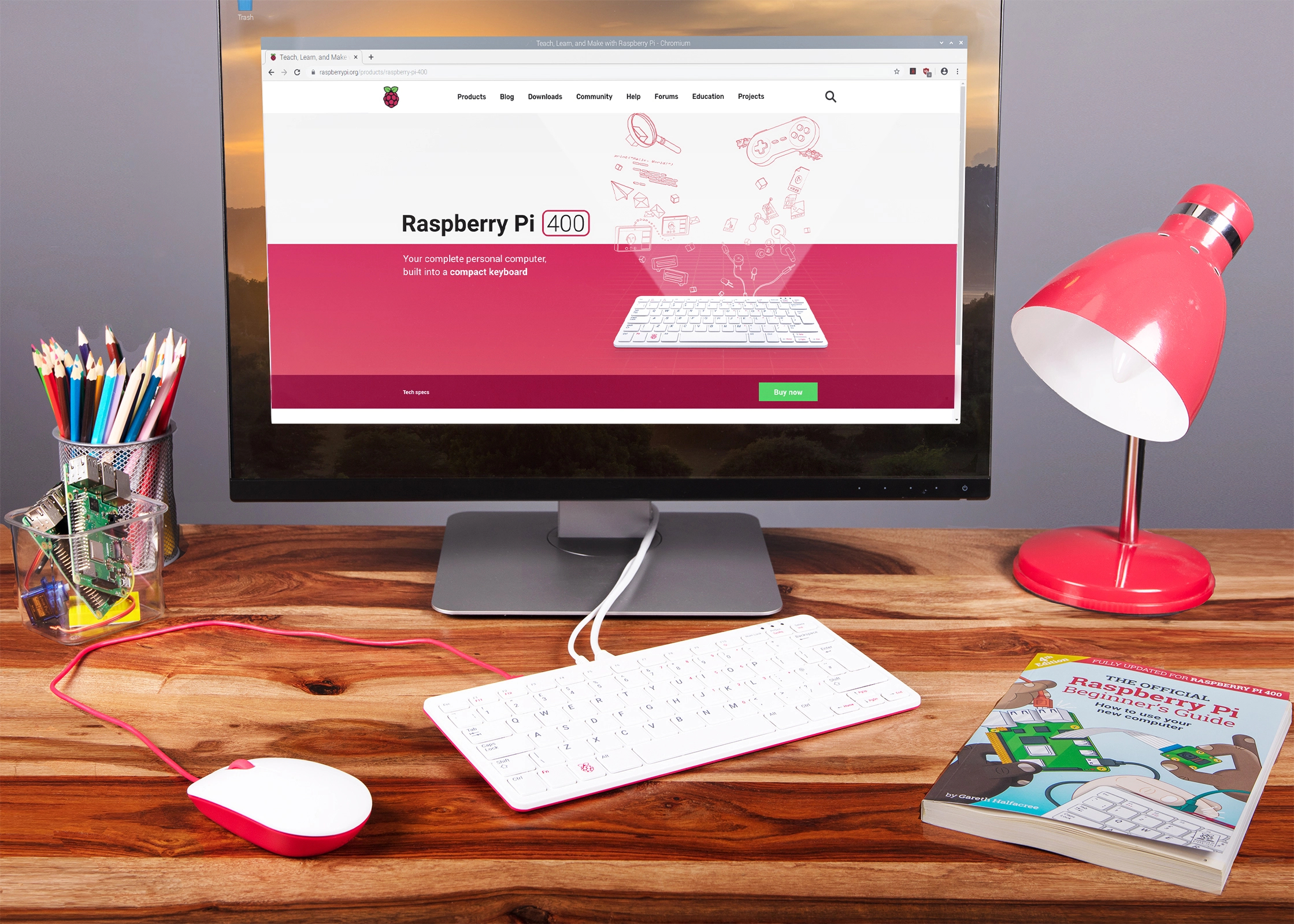 raspberry-pi-400-bureau 1